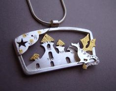 The Dragon at the Castle Pendant by Lucy Palmer
