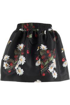 Red Valentino Kersen en bloemen rok