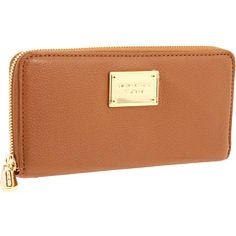 MICHAEL Michael Kors Jet Set Zip Around Continental wallet in Luggage