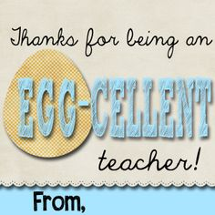 Easter thanks for being an egg cellent teacher crafts easterspring gift idea for teachers with free download negle Choice Image