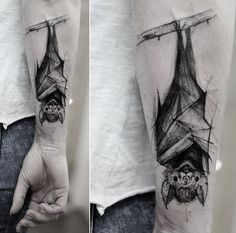 Kamil Mokot bat tattoo