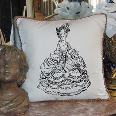 French Marie Antoinette pillow