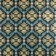 Inspiration for a DIY Encaustic Tile Floor - Wall Stencils | Cordova Allover Stencil | Royal Design Studio