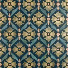 Inspiration for a DIY Encaustic Tile Floor - Wall Stencils | Cordova Allover Stencil | Royal Design Studio