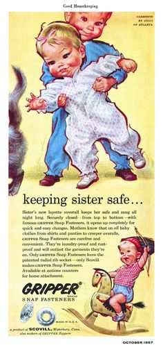 Good Housekeeping Magazine AD Illustrated by Pete Hawley October 1957