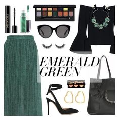 """Emerald City: Pops of Green"" by dora04 ❤ liked on Polyvore featuring MARCOBOLOGNA, Gianvito Rossi, Alexis, Charter Club, Henri Bendel, Lancôme, John Lewis, Gucci, Anastasia Beverly Hills and emeraldgreen"