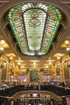 Brasil...  Confeitaria Colombo - Art Nouveau Grandeur and Fine Pastries at Rio's Most Famous Tearoom.