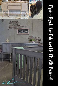 Paris Grey Chalk Paint™ by Annie Sloan Grey Furniture, Chalk Paint Furniture, Nursery Furniture, Furniture Design, Gray Chalk Paint, Chalk Paint Colors, Blue China Cabinet, China Cabinets, Furniture Makeover