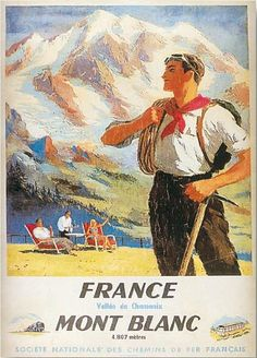 Chamonix, France. Vintage poster.