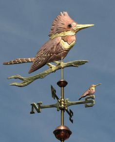 Kingfished Weathervane with Hummingbird photo