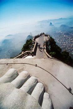 Interesting view from Cristo Redentor, Rio de Janeiro, Brazil