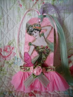 pink,shabby,cottage,paris,,french,altered art,corset, tag 3 by stephanies cottage!, via Flickr