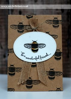 Dragonfly Dreams Bee Card from Stampin' Up!