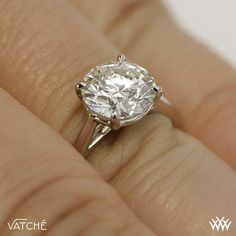 On my fingers anything more than i carat might be too big...  Vatche 'Venus' Solitaire Engagement Ring