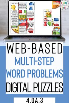 Your students will be experts at solving multi-word problems with these digital puzzles. These differentiated digital puzzles are interactive, fun Help Teaching, Teaching Activities, Learning Resources, Fun Learning, Teacher Resources, Math Websites, Hard Words, Math Strategies, Fun Math Games