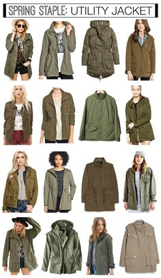 Affordable spring utility jackets