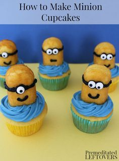 How to Make Minion Cupcakes Tutorial - Directions for quick and easy Minion Cupcakes. Have the best Minion themed party by learning how to make Minion cupcakes.