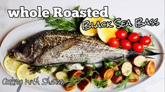 Whole Roasted Fish | Black Sea Bass with Lemon Herb Oil Lemon Herb, Sea Bass, Cooking Videos, Black Sea, Fish And Seafood, Seafood Recipes, Roast, Oven, Turkey