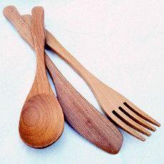 Spiral Garden | Natural Wooden Cutlery Set
