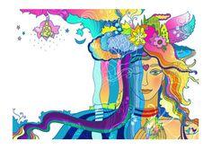 Illustrations for Yoga Journal Magazine by Jenia Maslova, via Behance