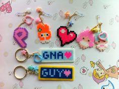 My Hama bead, key ring, name tag