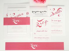 Delightful Script Wedding Invitation Simple by shineinvitations