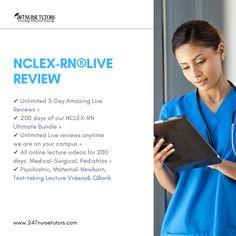 NCLEX-RN® Live Review More Info - www.247nursetutors.com Nclex Questions, Nclex Exam, Online Lectures, Test Taking, Nursing Students, Pediatrics, Medical, This Or That Questions, Live