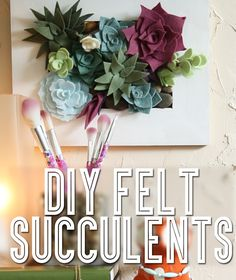 Get In Touch With Your Green Thumb With These DIY Felt Succulents I love these! It would be so much fun to make them and have little rocks and crystals in there! In Touch With Your Green Thumb With These DIY Felt Succulents I love these! Felt Flowers, Diy Flowers, Fabric Flowers, Paper Flowers, Flower Bookey, Flower Film, Potted Flowers, Cactus Flower, Flower Pots