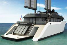 "KOMOREBI 130 - A NEW APPROACH TO YACHTING Marc Pajot Yachts : Vente et location de Yachts à Cannes, Monaco Saint-Tropez <span style=""font-size: 16px;"">KOMOREBI 130'</span>"