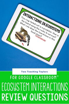 Use these digital task cards as an assessment after teaching 4th grade and 5th grade students about relationships in ecosystems for organisms and environments. Activities for exploring relationships of plants and animals with nonliving components of the environment. Includes questions on interdependence. 24 digital questions for Google Drive™. Science Student, Elementary Science, Elementary Teacher, Upper Elementary, Elementary Schools, Complete And Incomplete Metamorphosis, Science Activities, Task Cards, Assessment
