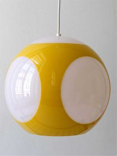 globe pendant lamp, maybe by Luigi Colani