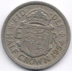 United Kingdom Half Crown 1954 Veiling in de Halve Crowns,Brits,Munten,Munten & Banknota's Categorie op eBid België