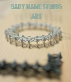 Baby name string art