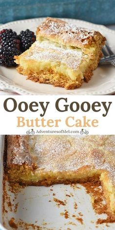 Make a simple and easy st louis style gooey butter cake using a cake mix ooey gooey recipe for the best dessert you ll ever have! adventuresofmel gooeybuttercake desserts cakerecipes easyrecipes cakemix how to make hello dolly bars Cake Mix Desserts, Brownie Desserts, Mini Desserts, Easy Desserts, Easy Delicious Desserts, Baking Desserts, Cake Baking, Delicious Food, Ooey Gooey Recipe