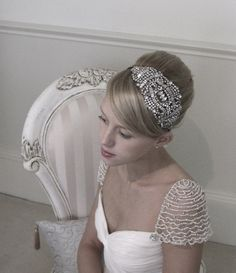 Image detail for -Vintage style bridal headpiece by SarahMorganBridal