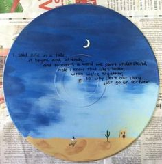 Lord Huron Album Art Custom Painting on Vinyl Record - Lonesome Dreams Music Painting, Music Artwork, Lord Huron, Music Drawings, Music Crafts, Music Backgrounds, Ends Of The Earth, Lynyrd Skynyrd, Music Logo