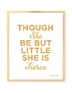 Though She Be But Little She Is Fierce  Girls Room by prettychicsf