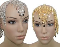 Belly Dance Samba Costumes Elastic Exotic Cleopatra Headwear Cap Beaded Hat