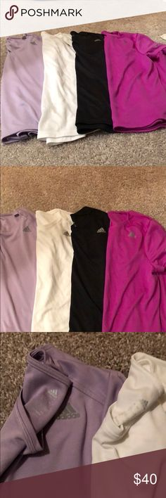 Lot of 4 Adidas running shirts sz large Lot of 4 Adidas running shirts sz large adidas Tops