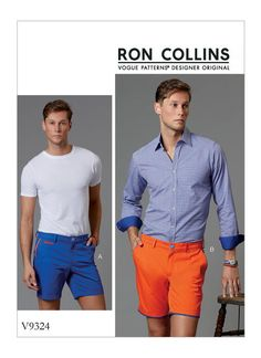 V9324 | Men's Shorts Sewing Pattern | Vogue Patterns