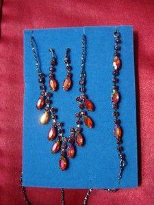 Avon chevron necklace, bracelet and earrings. $17.99