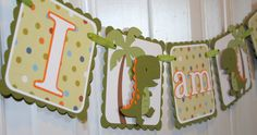 I Am One Banner Dinosaur Highchair Banner by ALittlePaperHouse