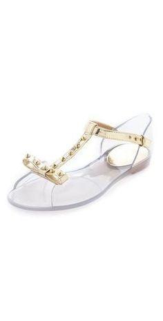 Stuart Wetizman nifty clear jelly #flats #shoes #style #Fashion #shopping  $132 (reg 165!)