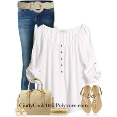 Jeans and Top, created by cindycook10 on Polyvore by VenusV