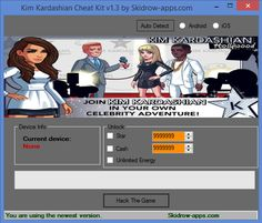 How to Hack Kim Kardashian Hollywood ? Now you have answer, this Kim Kardashian Hollywood Hack Tool will allow you to add extra Unlimited Gems, Unlimited Cash, Unlimited Boosts, Unlock All Car. Kim Kardashian Hollywood Hack Tool work with Android and iOS device. Trainer is very simple to use and you can easily add Gems, Cash, Boosts, Unlock All Car in your account with just one clicks of Patch Game button.