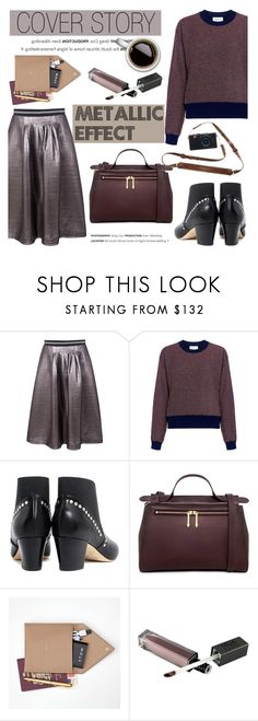 """""""Cover story: Metallic Effect"""" by ifchic ❤ liked on Polyvore featuring Markus Lupfer, Tanya Taylor, Eugenia Kim, Karen Walker, STOW and contemporary"""