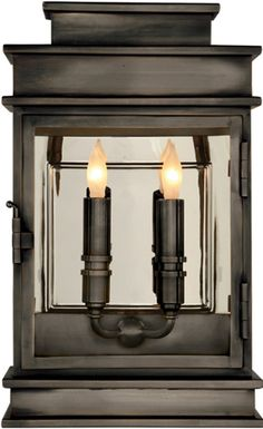 SHORT LINEAR LANTERN (interior version available) Visual Comfort & Co.  Available at Mayer Lighting Showroom www.mayerlighting.com