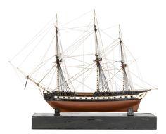 Wooden sailing ship circa 1800