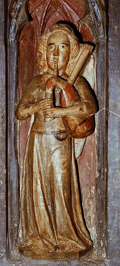 The Bagpiper of Exeter Cathedral, 1350