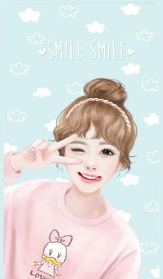 Find images and videos about cute, wallpaper and Enakei on We Heart It - the app to get lost in what you love. Cute Cartoon Girl, Cartoon Girl Drawing, Korean Anime, Korean Art, Korean Illustration, Cute Illustration, Anime Kawaii, Kawaii Girl, Kawai Japan